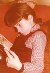 me reading
